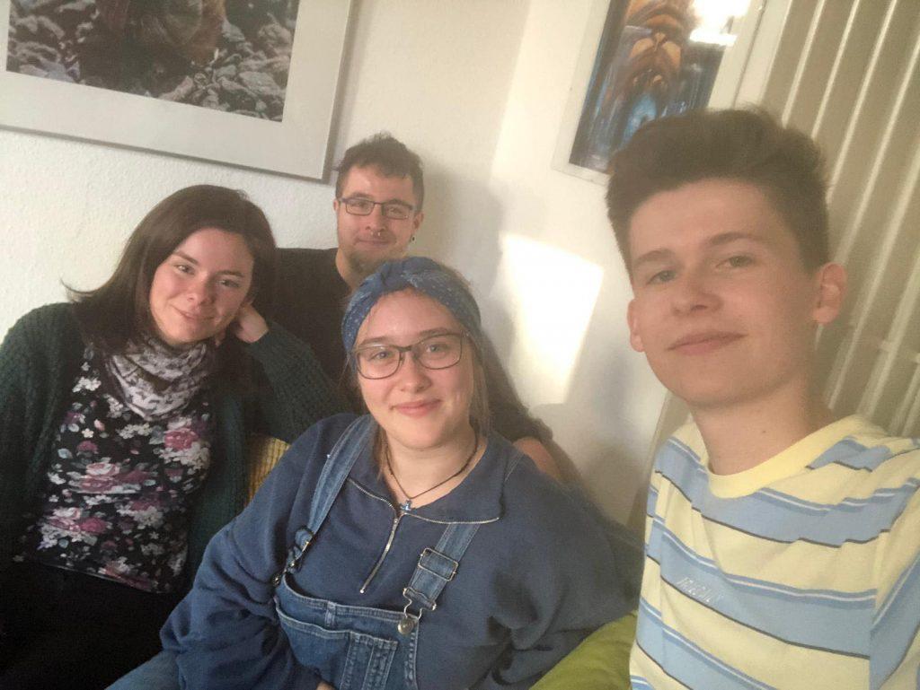 Vanessa, Manuel, Mathilde und Jakob (v.l.)
